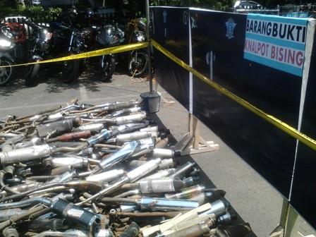 Polisi Sita Knalpot Bising